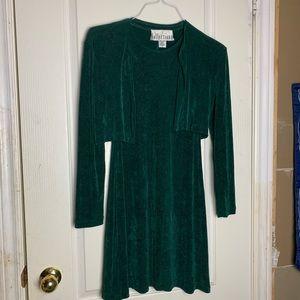 Dresses & Skirts - Vintage Green Cardigan & Dress Set